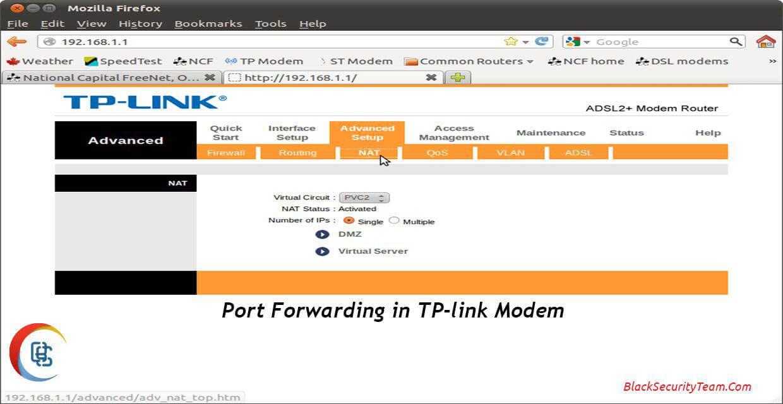 پورت فورواردینگ در مودم Tp-Link