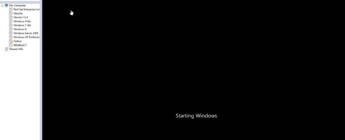 قفل شدن سیستم عامل در Vmware 3