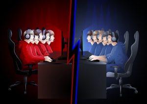 تیم قرمز و تیم آبی